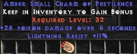 11 Resist Lightning w/ 25 Poison Damage SC