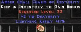 11 Resist Lightning w/ 2 Dex SC