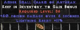 11 Resist Lightning w/ 50 Poison Damage SC