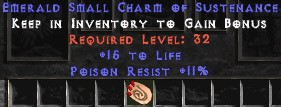 11 Resist Poison w/ 15 Life SC