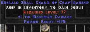 11 Resist Poison w/ 1 Max Damage SC