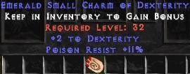 11 Resist Poison w/ 2 Dex SC