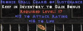 12 Attack Rating w/ 15 Life SC