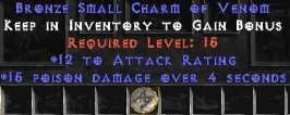 12 Attack Rating w/ 15 Poison Damage SC