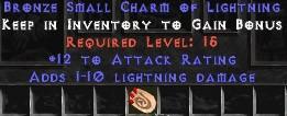 12 Attack Rating w/ 1-10 Lightning Damage SC
