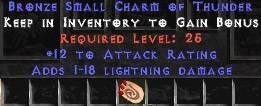 12 Attack Rating w/ 1-18 Lightning Damage SC
