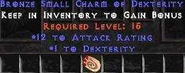 12 Attack Rating w/ 1 Dex SC