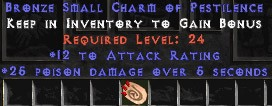 12 Attack Rating w/ 25 Poison Damage SC