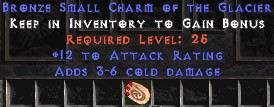12 Attack Rating w/ 3-6 Cold Damage SC