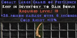 12 Resist Cold w/ 25 Poison Damage LC