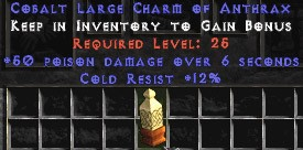 12 Resist Cold w/ 50 Poison Damage LC