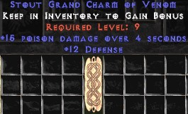 12 Defense w/ 15 Poison Damage GC