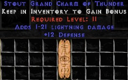 12 Defense w/ 1-21 Lightning Damage GC