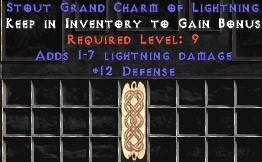 12 Defense w/ 1-7 Lightning Damage GC