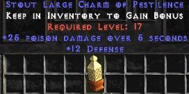 12 Defense w/ 25 Poison Damage LC