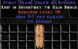 12 Defense w/ 3-7 Fire Damage GC