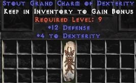 12 Defense w/ 4 Dex GC