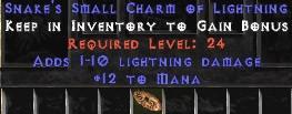 12 Mana w/ 1-10 Lightning Damage SC