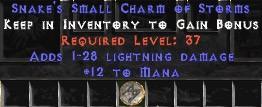 12 Mana w/ 1-28 Lightning Damage SC