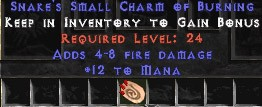 12 Mana w/ 4-8 Fire Damage SC