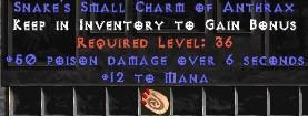 12 Mana w/ 50 Poison Damage SC