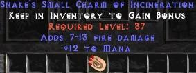 12 Mana w/ 7-13 Fire Damage SC