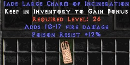 12 Resist Poison w/ 10-17 Fire Damage LC