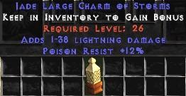 12 Resist Poison w/ 1-38 Lightning Damage LC