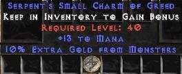 13-16 Mana w/ 10% Gold Find SC