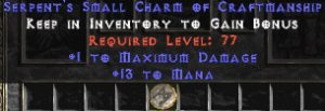 13-16 Mana w/ 1 Max Damage SC
