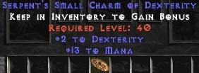 13-16 Mana w/ 2 Dex SC