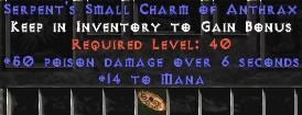 13-16 Mana w/ 50 Poison Damage SC