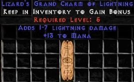 13 Mana w/ 1-7 Lightning Damage GC