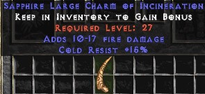 15 Resist Cold w/ 10-17 Fire Damage LC