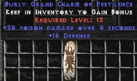 15 Defense w/ 25 Poison Damage GC