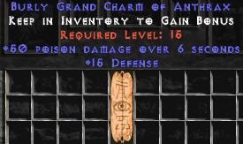 15 Defense w/ 50 Poison Damage GC
