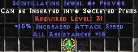 15 Resist All & 15% IAS Jewel