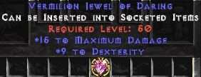 15 Max Damage & 9 Dexterity Jewel