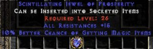 15 Resist All & 10% Magic Find Jewel