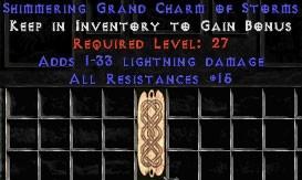 15 Resist All w/ 1-33 Lightning Damage GC