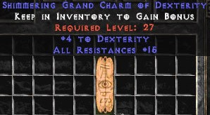 15 Resist All w/ 4-5 Dex GC