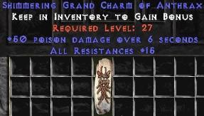 15 Resist All w/ 50 Poison Damage GC