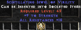15 Resist All & 9 Strength Jewel