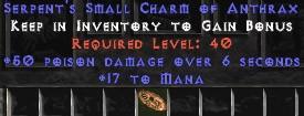 17 Mana w/ 50 Poison Damage SC - Perfect
