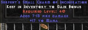 17 Mana w/ 7-13 Fire Damage SC - Perfect