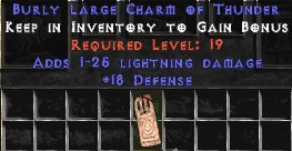 18 Defense w/ 1-25 Lightning Damage LC