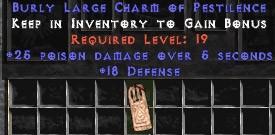 18 Defense w/ 25 Poison Damage LC
