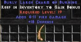 18 Defense w/ 5-11 Fire Damage LC