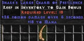 18 Mana w/ 25 Poison Damage LC