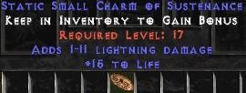 1-11 Lightning Damage w/ 15 Life SC